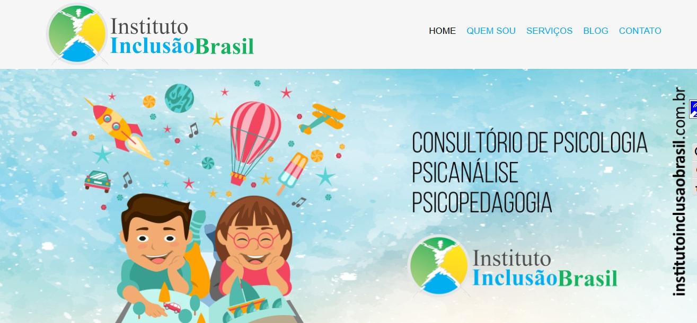 Criação de sites institucional Instituto Inclusão Brasil