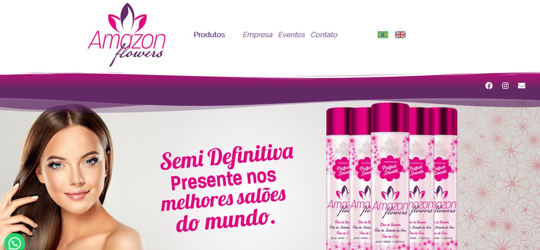 site criado criado para empresa de cosméticos