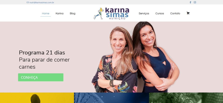 Site criado para nutricionistas